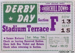 1949_Kentucky_Derby_Ticket_01
