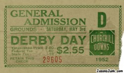 1952_Kentucky_Derby_Ticket_01