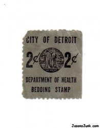 CityOfDetroitDepartmentOfHealthBeddingStamp