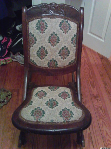 Jason S Junk Antique Folding Rocking Chair Free