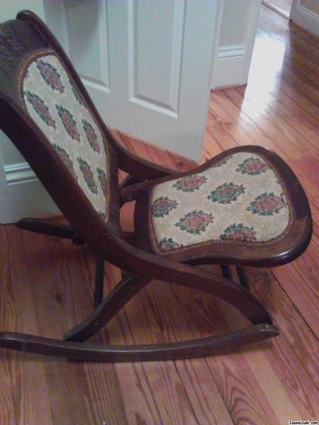 Jason S Junk Antique Folding Rocking Chair Free